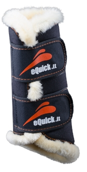 EQ eTRAINING EXERCISE OR DRESSAGE BOOT WITH FLUFFY -equick-Top Notch Wholesale